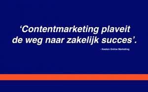 Contentmarketing succes