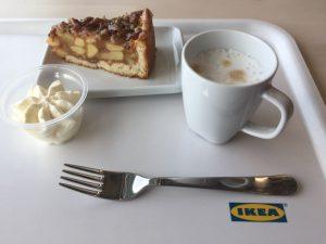 Ikea ontbijt koffie met appeltaart