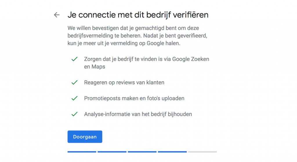 Connectie Google Mijn Bedrijf