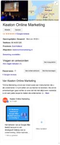 Knowledge panel Google Mijn Bedrijf beheren