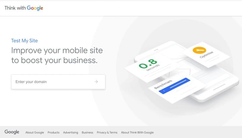 Mobiele laadsnelheid website